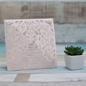 """Partecipazione laser cut """"Bouquet Pink"""" - GIOIA CARTA"""