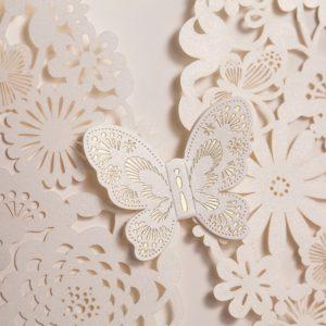 "Partecipazione Laser cut ""Butterfly"" - GIOIA CARTA"