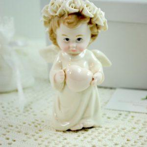 ANGELO Pearl Angel in Piedi c/Cuore- MELOGRANO