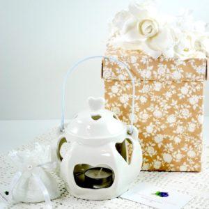 Lanterna Porta Tealight Porcellana P - MELOGRANO
