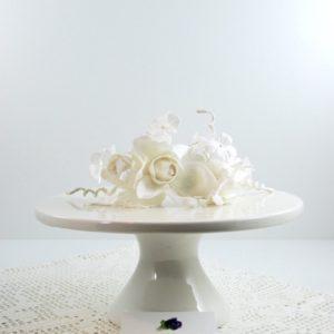 Alzata in Porcellana Bianca -TONO SU TONO