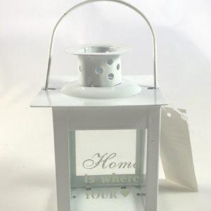 Lanterna Porta Tealight Bianca