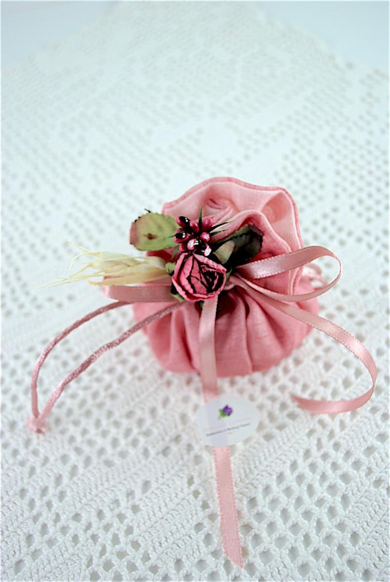 Matrimonio In Rosa Antico : Sacchettino tondo rosa antico baratti bomboniere la