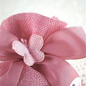 Sacchetto Rosa c/Coppia di Farfalle Laser Cut - CUPIDO & CO
