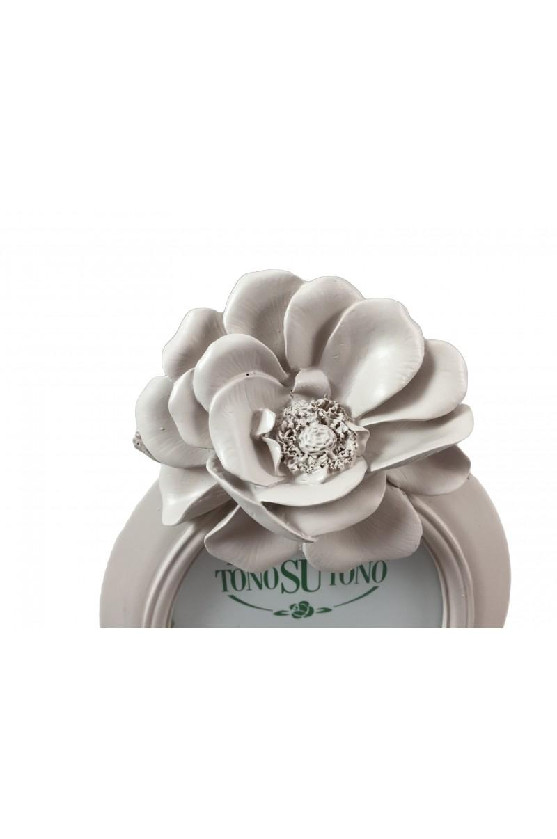 Cornice Ovale Con Rosa - TONO SU TONO