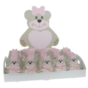 VASSOIO ORSETTA TED BEAR ROSA -SCOTTON