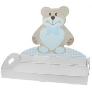 VASSOIO ORSETTO TED BEAR CIELO -SCOTTON