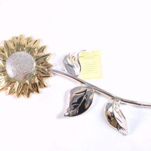 Girasole In resina Argentata 925 - PATERNA E LIVI