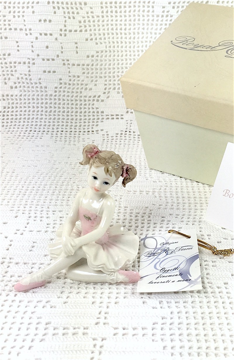 Ballerina In resina Porcellanata Mod.1/2- ROYAL DIANA