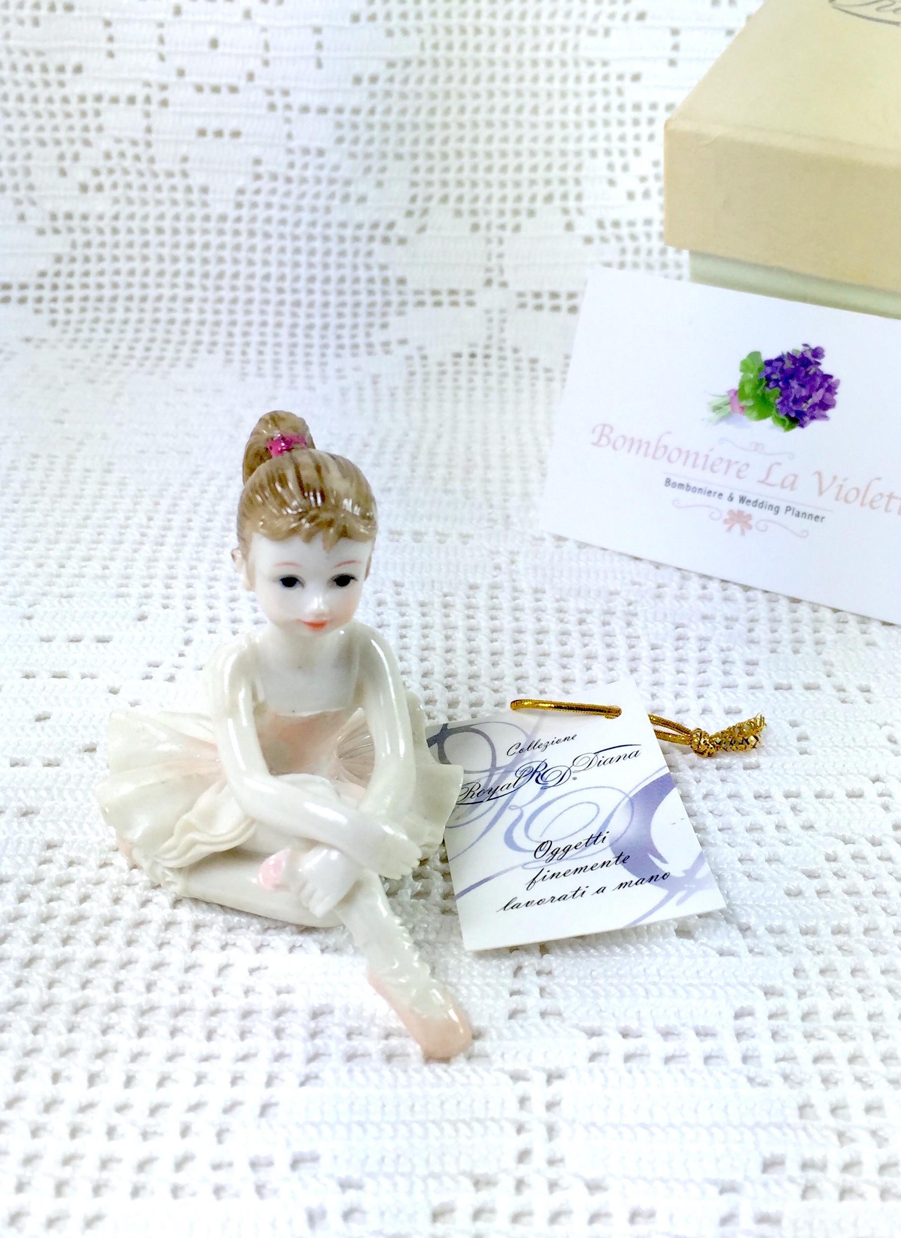 Ballerina In resina Porcellanata Mod.2/2- ROYAL DIANA