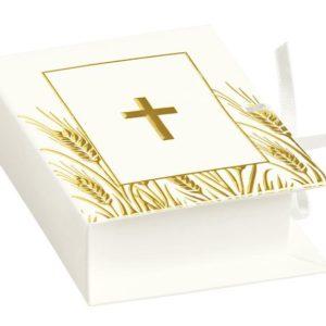 scatolina-libro-bianco-con-croce-oro-santa-cresima-www-bombonirelavioletta-it