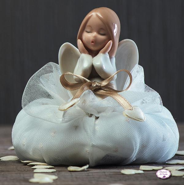 Famoso Bomboniera angelo femmina 2 soggetti assortiti in porcellana con  NB99