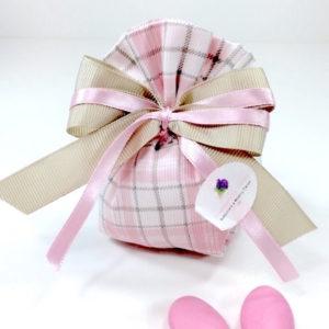 sacchetto-pon-pon-rosa-piquet-millerighe-scozzese-collezione-fioccano-emozioni-esclusiva-bombonierelavioletta.it