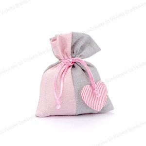 sacchetto-bicolore-cuore-rosa-bombonierelavioletta.it