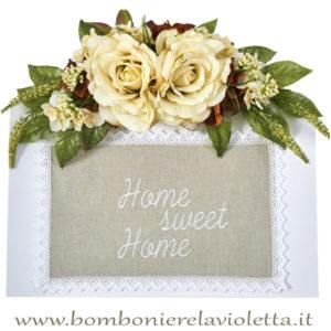 tavola-bomboniera-due-rose-ortensie-linea-chocolat-fiori-di-lena-bombonierelavioletta.it