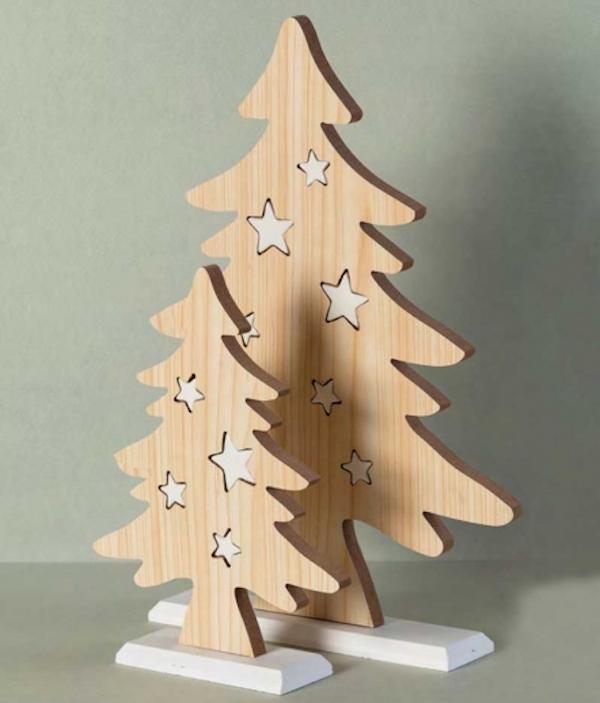 Albero Di Natale In Legno.Albero Natale Legno E Porcellana P Ad Emozioni