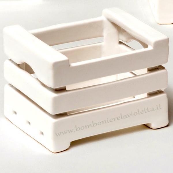 Cassetta pc bianca linea storage bomboniere la violetta for Ikea cassette legno