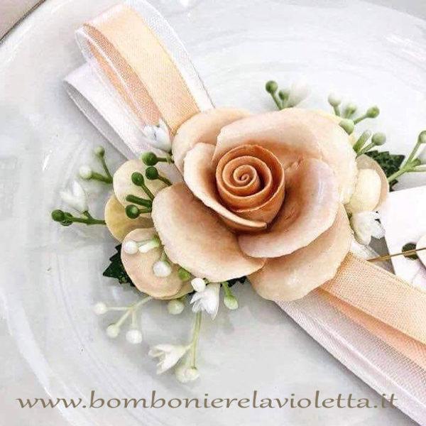 Segnaposto Matrimonio 2018.Bomboniera Segnaposto Con Rosa Spring Rose Bomboniere La Violetta