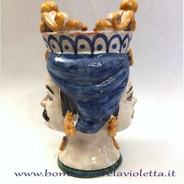 Bomboniere Matrimonio Ceramica Caltagirone.Teste Di Moro Bifronte Ceramiche Di Caltagirone