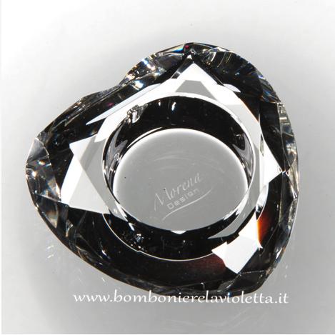 Bomboniere Matrimonio Cristallo.Portacandela Cristallo D7985 Cristalli Bomboniere La Violetta